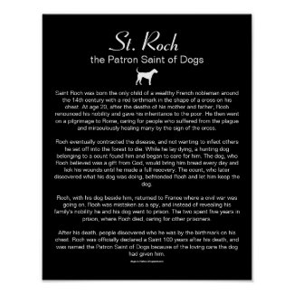 How a Dog's Love Inspired Saint Roch Poster