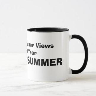 How A Math Teacher Views The School Year, schoo... Mug