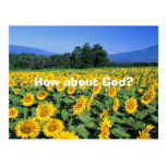 How about God? Postcards