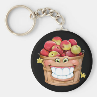How about them apples?!  Happy Apples! Keychain