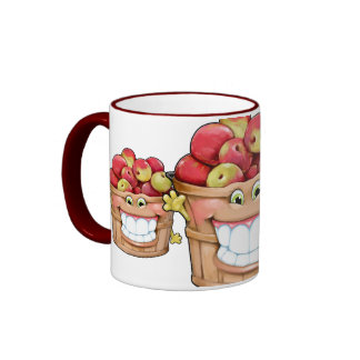 How about them apples?!  Happy Apples! Ringer Coffee Mug