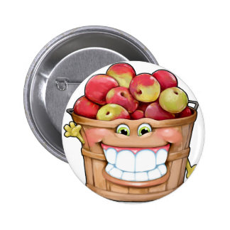 How about them apples?!  Happy Apples! Pinback Button