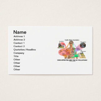 How Affected Are You By Pollution? (Physiology) Business Card