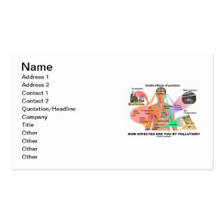 How Affected Are You By Pollution? (Physiology) Business Card Templates
