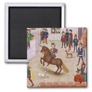 How Alexander the Great  Mounted Bucephalus 2 Inch Square Magnet
