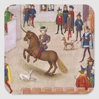 How Alexander the Great  Mounted Bucephalus Square Sticker