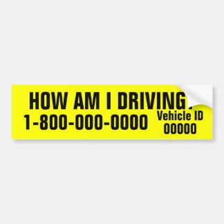 How am I Driving Bumper Sticker Car Bumper Sticker