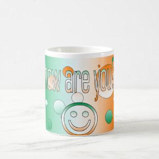 How are You? Ireland Flag Colors Pop Art Coffee Mug