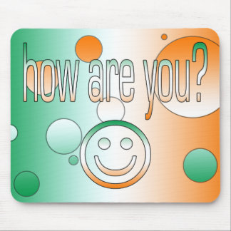 How are You? Ireland Flag Colors Pop Art Mouse Pad