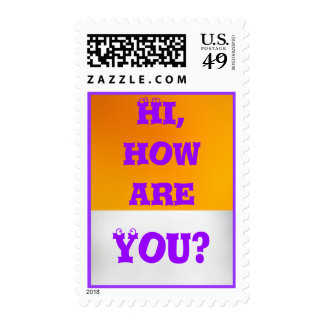 How Are You? Postage Stamp
