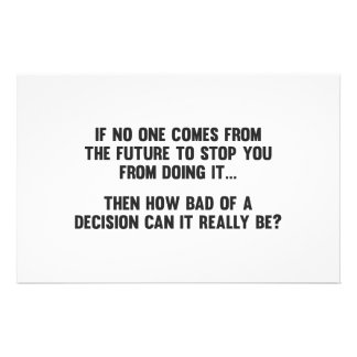 How Bad of a Decision Can It Really Be? Customized Stationery