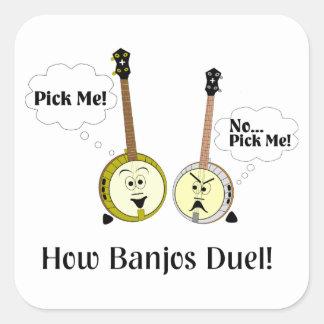 How Banjos Duel Square Sticker