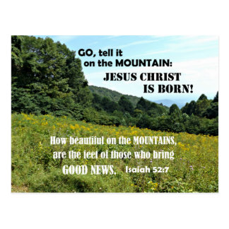 How beautiful on the mountains-Christmas Postcard