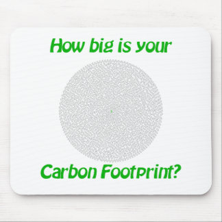 How big is your carbon footprint? mouse pad