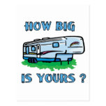How big is yours? postcard