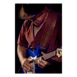 How Blue Can You Get  - Blues Guitar Player Posters