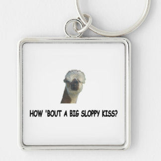 How 'bout a big sloppy kiss? keychain