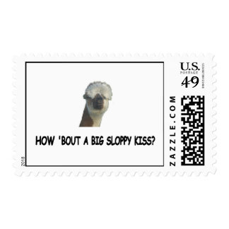 How 'bout a big sloppy kiss? postage stamps