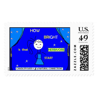 How bright is that star? Stamp