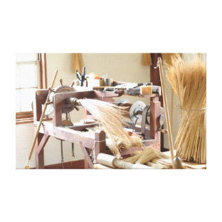 How brooms are made - Shaker style Canvas Print