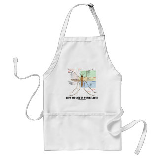 How Buggy Is Your Life? (Mosquito Anatomy Humor) Adult Apron