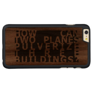 How can... 9/11 carved® walnut iPhone 6 plus case
