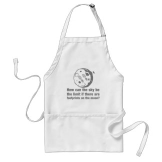 How can the sky ... limit footprints on the moon? adult apron