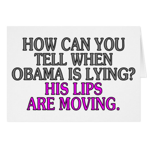 if you see obama lips moving he is lying