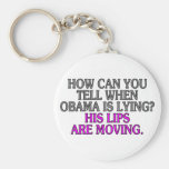 How can you tell when Obama is lying? His lips... Keychain