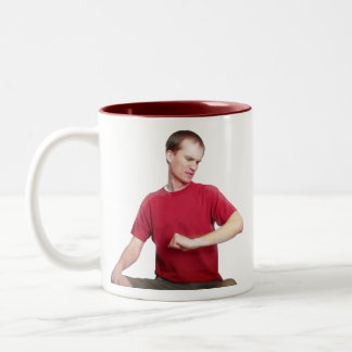 """How Come I'm So Much Buffer Than You?"" Two-Tone Coffee Mug"