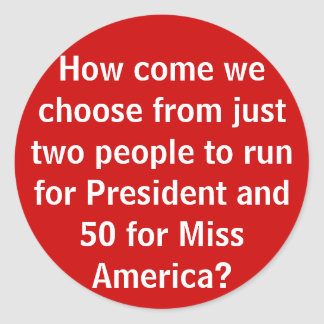 How come we choose from... - sticker