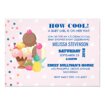 How Cool baby Shower Ice Cream Social Invitation