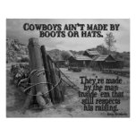 How cowboys are made posters