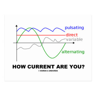 How Current Are You? (Various Currents Physics) Postcard