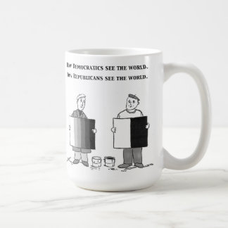 How Dems and Repubs see the world Coffee Mug