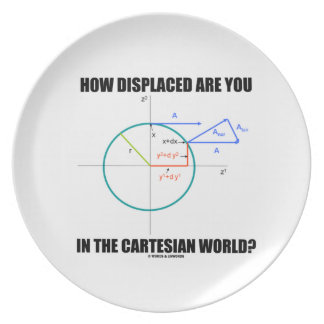 How Displaced Are You In The Cartesian World? Dinner Plate