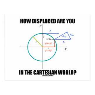 How Displaced Are You In The Cartesian World Postcards