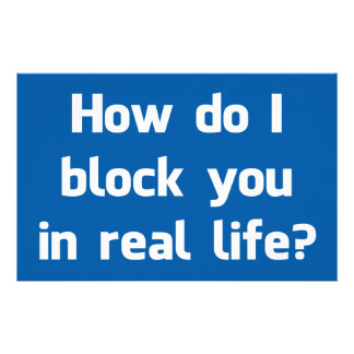 How Do I Block You in Real Life? Stationery Design