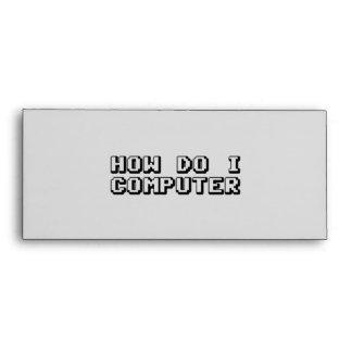 How Do I Computer Envelopes