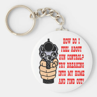 How Do I Feel About Gun Control Basic Round Button Keychain