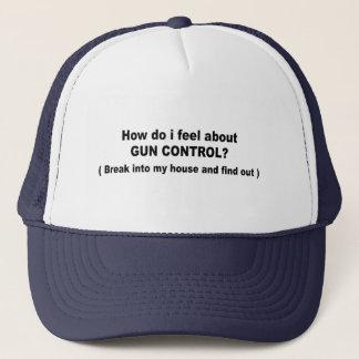 How do i feel about gun control trucker hat
