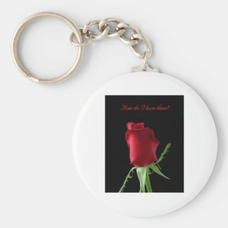 How do i love thee - customizable with your text basic round button keychain