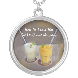How Do I Love Thee Round Pendant Necklace