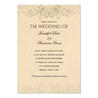 How Do I Love Thee Vintage Poem Wedding Card