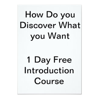 How Do you Discover What you Want? Card