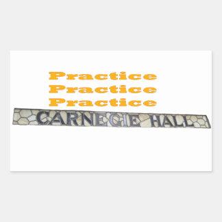 How Do You Get To Carnegie Hall Rectangular Sticker