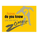 How do you know, you are not a zombie? post card