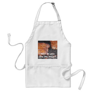 How do you like my meat? adult apron