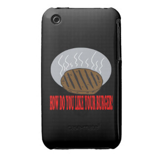 How Do You Like Your Burger iPhone 3 Cases