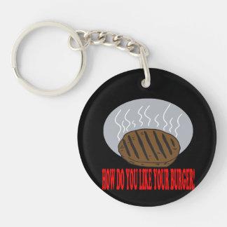 How Do You Like Your Burger Keychain